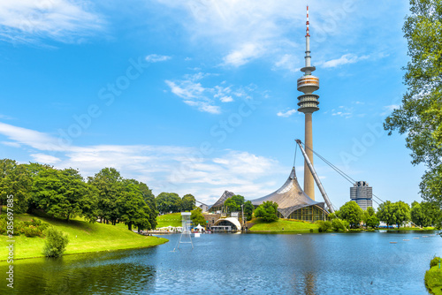 Valokuva  Munich Olympiapark in summer, Germany