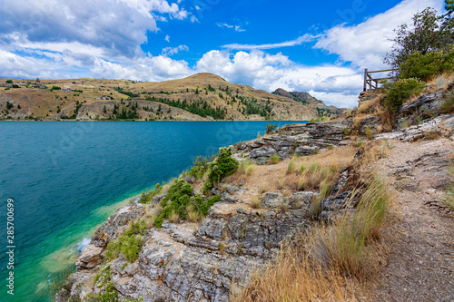 Valokuvatapetti View of Kalamalka Lake from Kalamalka Lake Provincial Park near Vernon British C