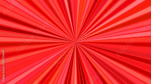 Red psychedelic abstract striped ray burst background design - vector explosion Canvas Print