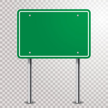 Blank Green Sign