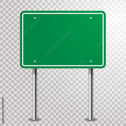 pusty zielony znak