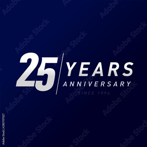 Tela  25 years anniversary vector template design illustration