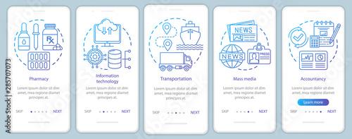 Comfort, service industries onboarding mobile app page screen vector template Wallpaper Mural