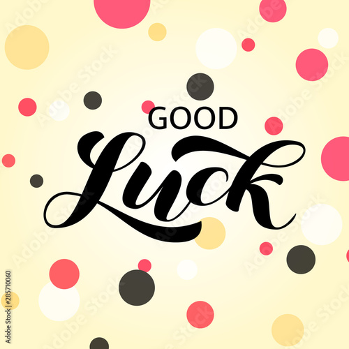 Good luck brush lettering Canvas Print