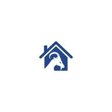 Goat House Logo Template Desig...