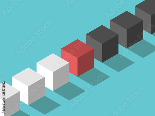 Photo abstract background with cubes