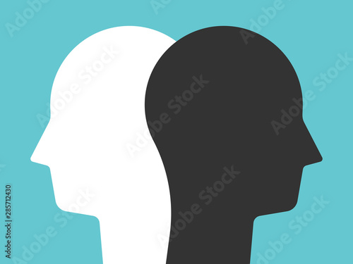 silhouette of a head Canvas Print