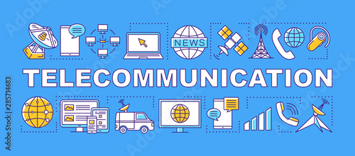 Fotomural  Telecommunication word concepts banner