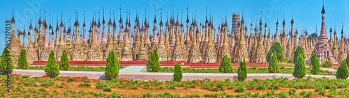Obraz na plátně The forest of stupas, Kakku Pagodas, Myanmar