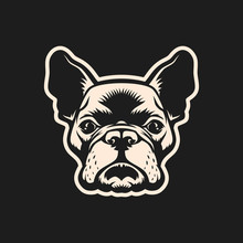 French Bulldog Head Outline Cu...