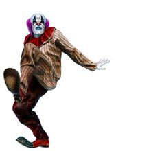 Clown Doing A Slowly Walk