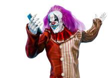 Clown Is Taking A Selfie