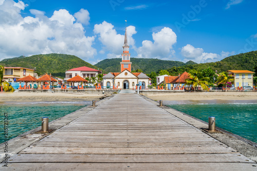 Martinique Caribbean village of Anse d'Arlet Canvas Print