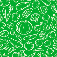 Vegetables Seamless Background...