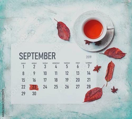 Autumnal equinox. September Equinox 2019 Tablou Canvas