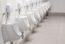 Selective Focus Of Urinals In ...