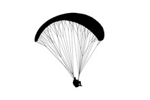 Silhouette Paraglider Flying O...