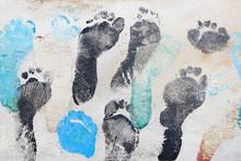 Color Of Footprints On Concret...