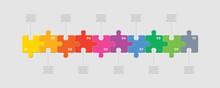 Ten Pieces Puzzle Line Diagram...