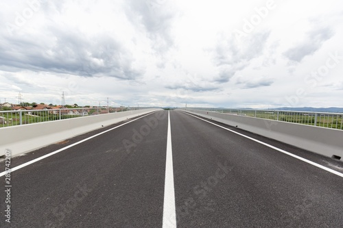 Photo sur Toile Europe de l Est New recently built highway in Brcko district, Bosnia and Herzegovina