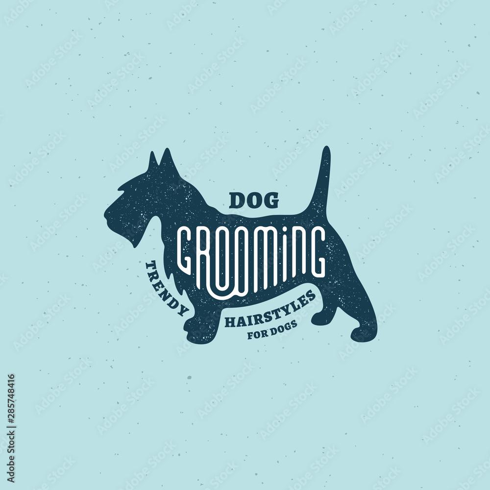Fototapety, obrazy: Scottish terrier logo