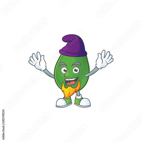 Fototapeta Elf avocado fruit character on white background obraz