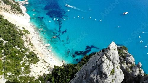 Photo Vue aérienne de Cala Goloritze, Sardaigne, Italie