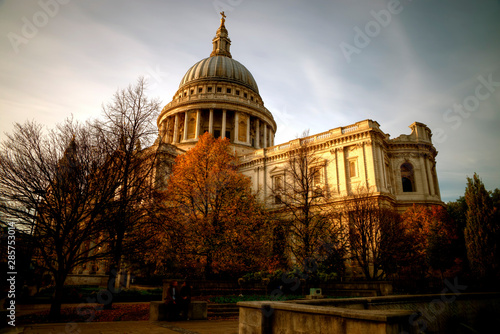St Paul's Cathedral at sunset, London, United Kingdom Wallpaper Mural