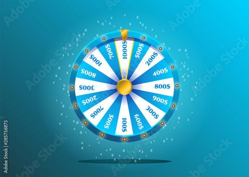 Wheel of fortune Wallpaper Mural