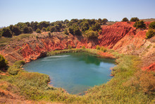 The Lake In A Old Bauxite's Re...