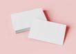 Leinwanddruck Bild - Business card mockup isolated 3d rendering