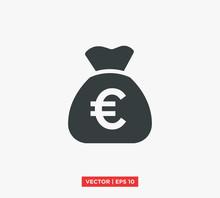 Euro Symbol Icon Vector Illust...