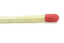 Close-up Red Match Isolated On A White Background With Clipping Path.