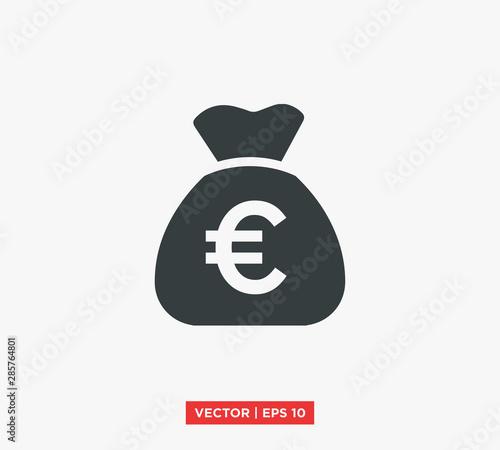 Fotomural Euro Symbol Icon Vector Illustration
