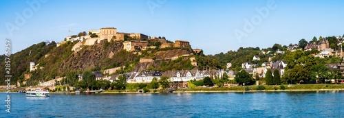 Fotografie, Obraz  Panorama Koblenz Festung Ehrenbreitstein Rhein