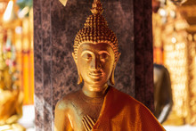 Wat Phra That Doi Suthep, The Temple In Chiang Mai, Popular Historical Temple In Thailand.
