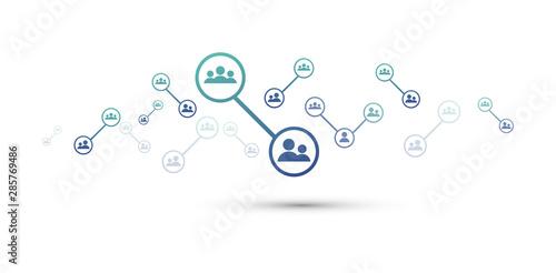 utenti, persone, condivisioni, network, tecnologia, Canvas Print