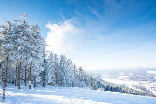 Fotografie, Obraz  Winterurlaub und Wandern in Lenzkirch im Schwarzwald bei Schnee
