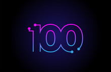 Number 100 Logo Icon Design In...