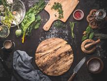 Vegetarian Food Cooking Backgr...