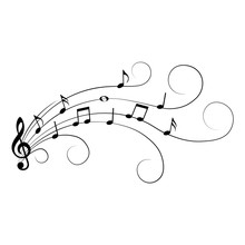 Music Notes, Isolated, Vector ...