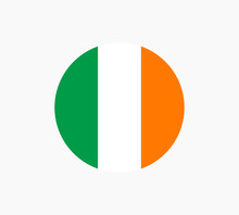 Ireland Flag Vector Template Isolated