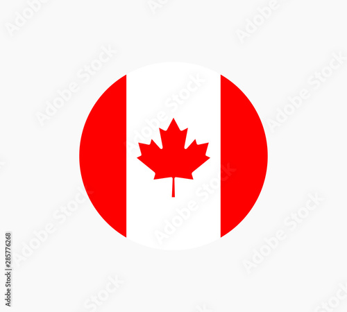 Canada Flag Vector Template Isolated