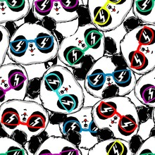 Hand Drawn Panda With Glasses ...