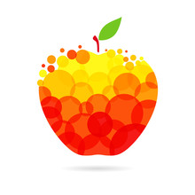 Apple Logotype Concept. Red An...