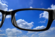 View Through Glasses Nature Th...