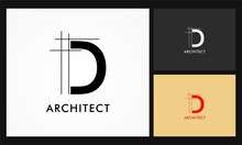 D Architect Vector Logo