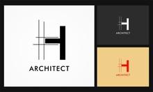 H Architect Vector Logo