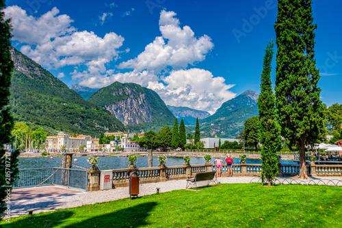 Obraz na plátně Lake Garda in Italy in summer