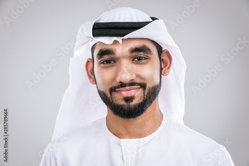 Leinwand Poster Arabic handsome man studio portraits